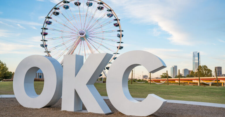 Oklahoma City Letters and Ferris Wheel