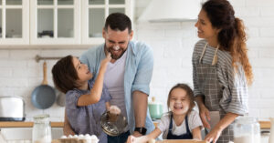 Family cooking together - Oklahoma City rated best place to raise a family