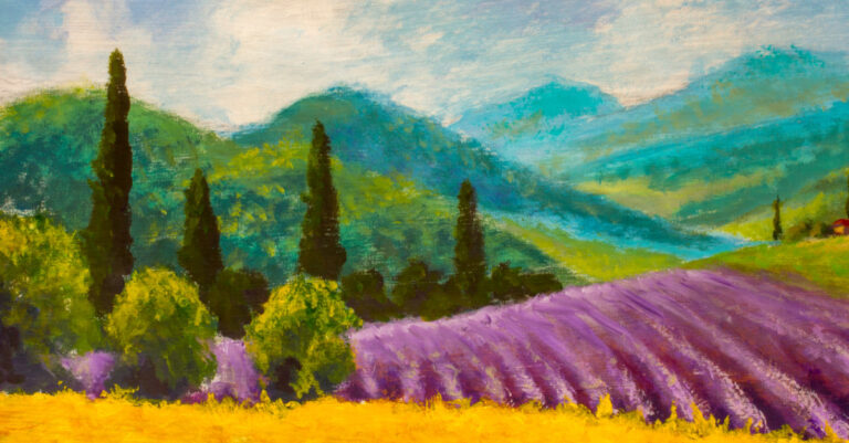 Italian Country Side - Oil Painting