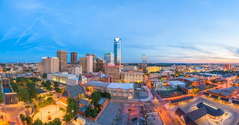 Oklahoma City Skyline at Twilight